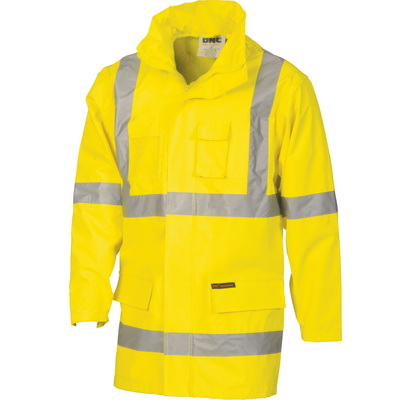 "DNC 3995-200D Polyester/PVC HiVis D/N ""2 in 1"" Rian Jacket with"