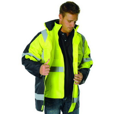 "DNC 3998-200D Polyester/PVC HiVis 2 Tone D/N ""6 in 1"" Contrast"