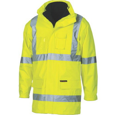 "DNC 3999-200D Polyester/PVC HiVis D/N ""6 in 1"" Contras Jacket wi"