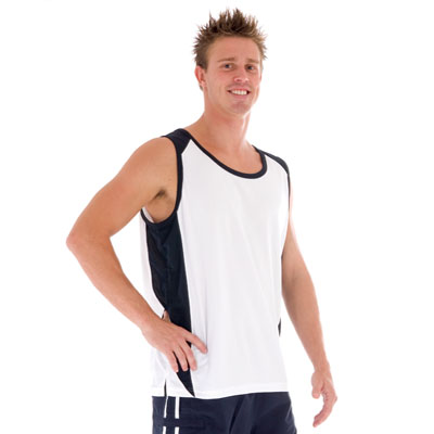 DNC 5141-175gsm Polyester Adult Cool-Breathe Contrast Singlet