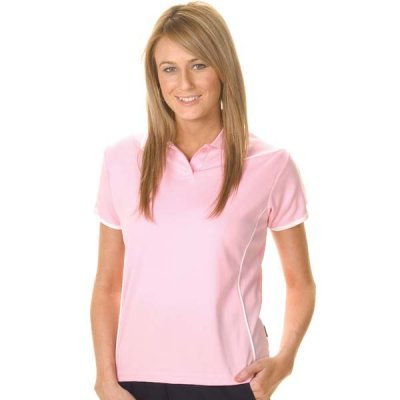 DNC 5225-175gsm Polyester Ladies Cool-Breathe Piping Polo