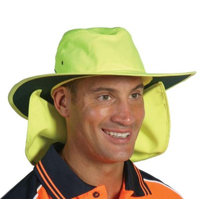 DNC H055-HiVis Hat with Flap