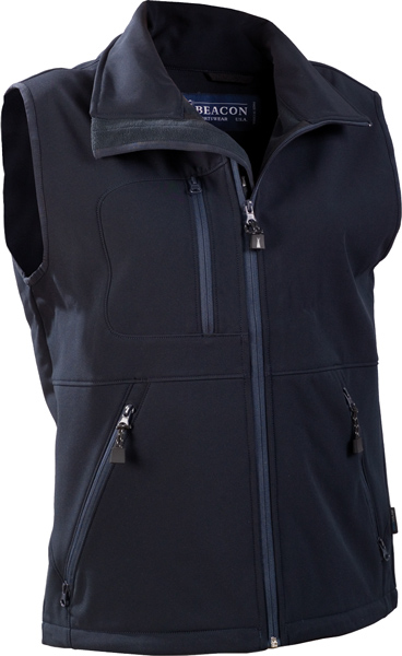 "BEACON Montana-Mens wind and water repellent ""softshell"" vest. T"