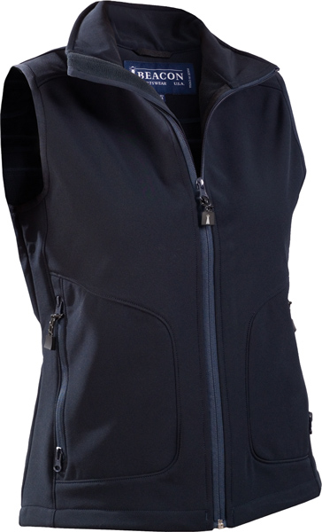 "BEACON Morgan-Ladies wind and water repellent ""softshell"" vest."