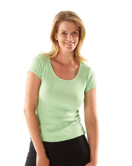 JBswear 1LSNT-JBs LADIES SCOOP NECK TEE