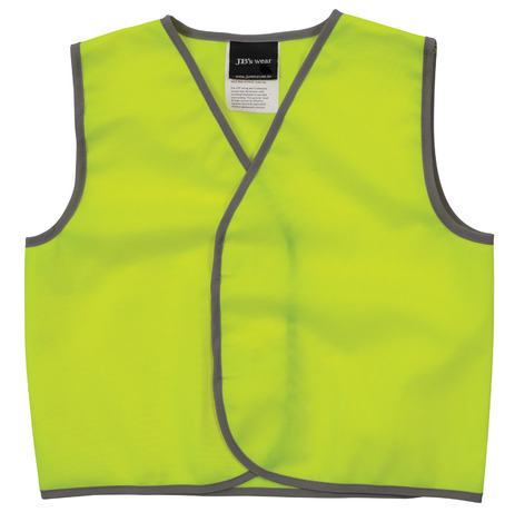 Jbswear 6hvsu Jbs Kids Hi Vis Safety Vest 3 50 Tas Workwear