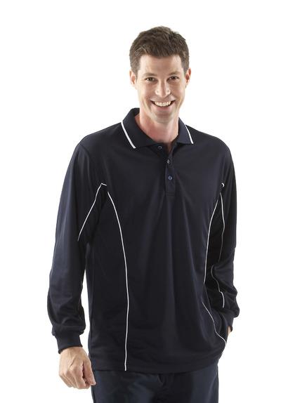 JBswear 7PIPL-PODIUM L/S PIPING POLO