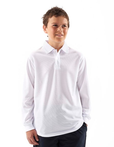 JBswear 7SPL-PODIUM KIDS L/S POLY POLO