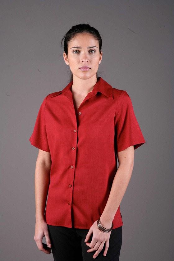 LSJ 2162D-PL Short sleeve 'easy fit' collar shirt