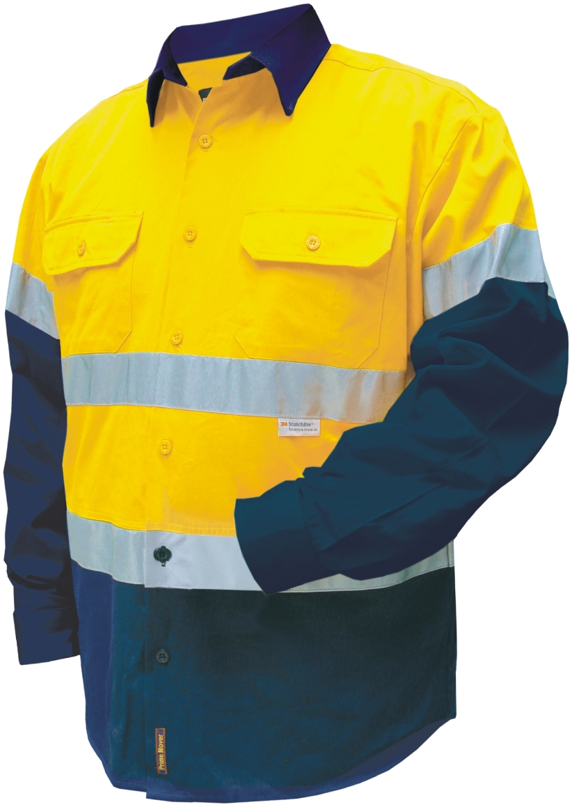 PrimeMover CHNC1001A-Fire Retardant Cotton Drill Shirt with 3M R