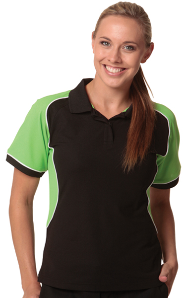 WinningSpirit PS78-CONQUEST Lady -Womens TrueDry Tri-colour polo