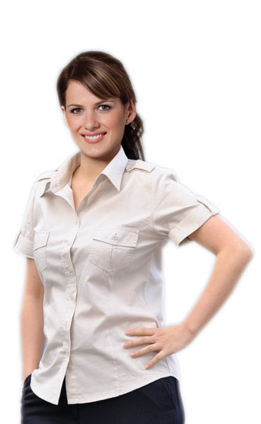 BENCHMARK M8911- Womens Short Sleeve Military Shirt