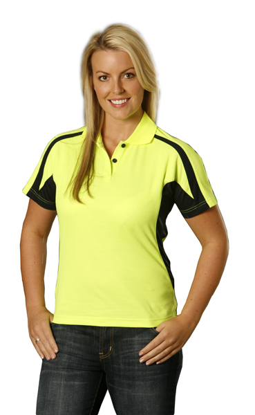 WinningSpirit SW26A Ladies hi-vis Legend Short Sleeve Polo with