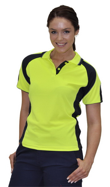 WinningSpirit SW62-Ladies' CoolDry® Safety Polo with Underarms m