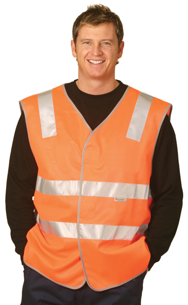 WinningSpirit SW03-High Visibility Safety Vest With Reflective T