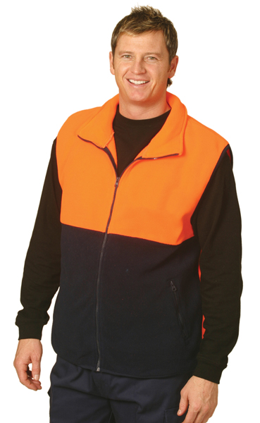 WinningSpirit SW08-High Visibility 2 Tone Zip Front Safety Vest