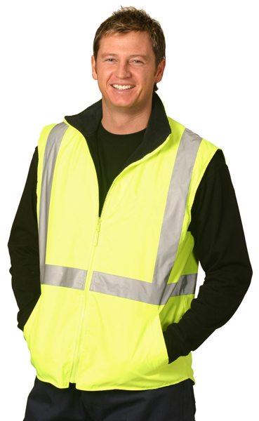 WinningSpirit SW19A-High Vis Two Tone Vest With 3M Reflect