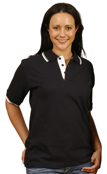 WinningSpirit PS05-Tipped Cotton Jersey Polo (Unisex)