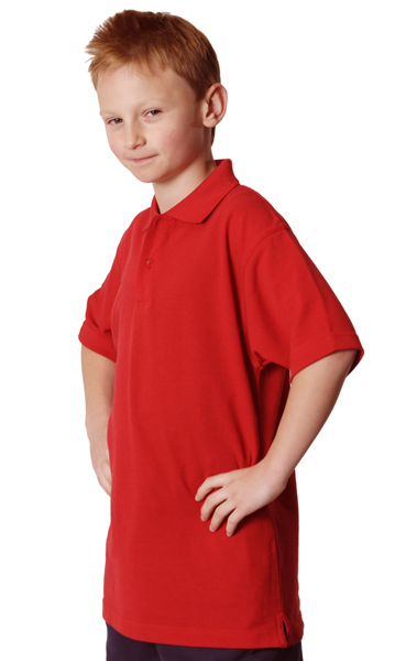 WinningSpirit PS11K-Kids' Pique Knit Short Sleeve Polo