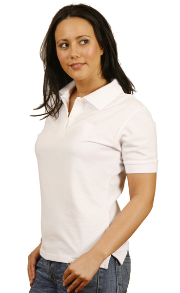 WinningSpirit PS23-Ladies' Tight Pique Knit Short Sleeve Polo