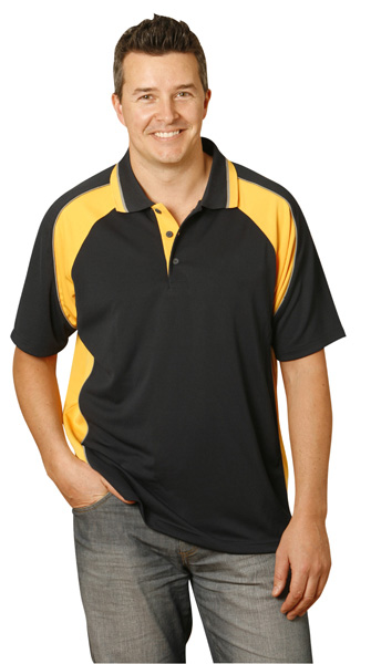 WinningSpirit PS49-Mens CoolDry Short Sleeve Contrast Polo
