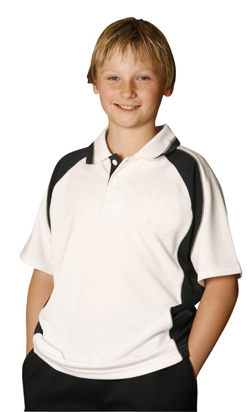 WinningSpirit PS49K-Kids CoolDry Short Sleeve Contrast Polo