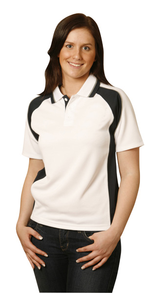 WinningSpirit PS50-Ladies CoolDry Short Sleeve Contrast Polo