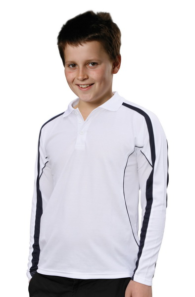WinningSpirit PS69K-Kids' TrueDry® Long Sleeve Polo