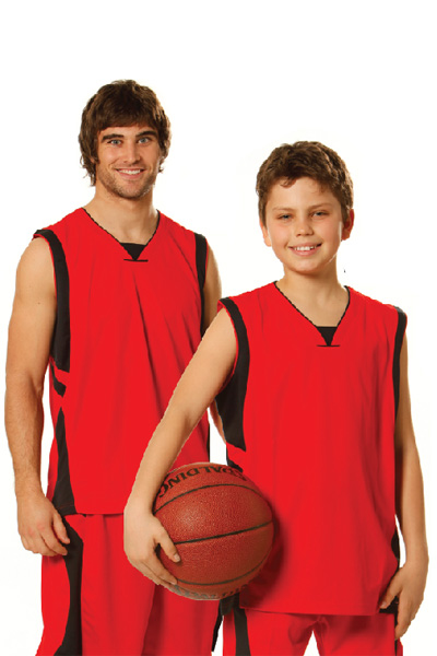 WinningSpirit TS83K-Kids' CoolDry® Basketball Singlet - Click Image to Close