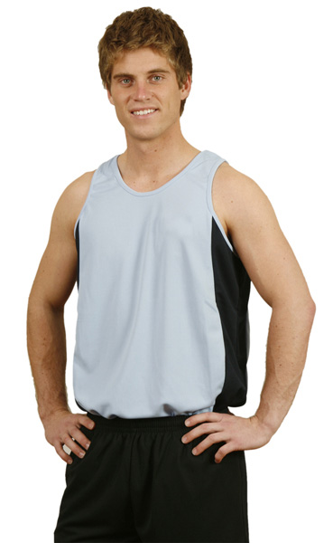 WinningSpirit TS19-Men's Contrast CoolDry® Mesh Singlet