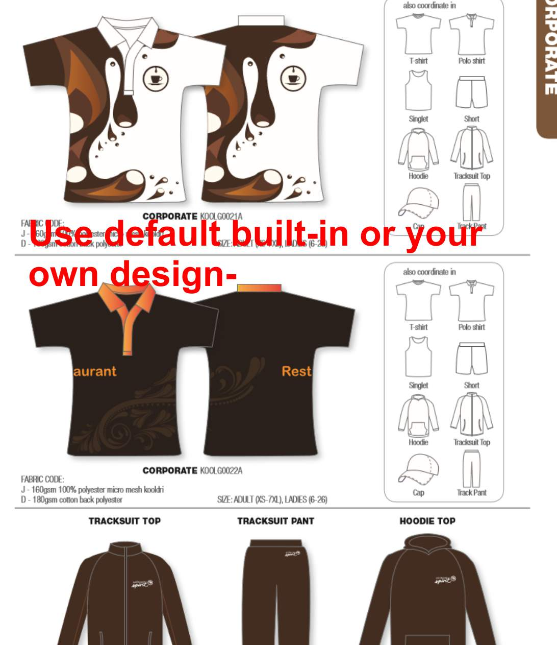 Design your own t-shirt and save it - Corporate Style 1 Design Your Own Color Minimum 25 Units