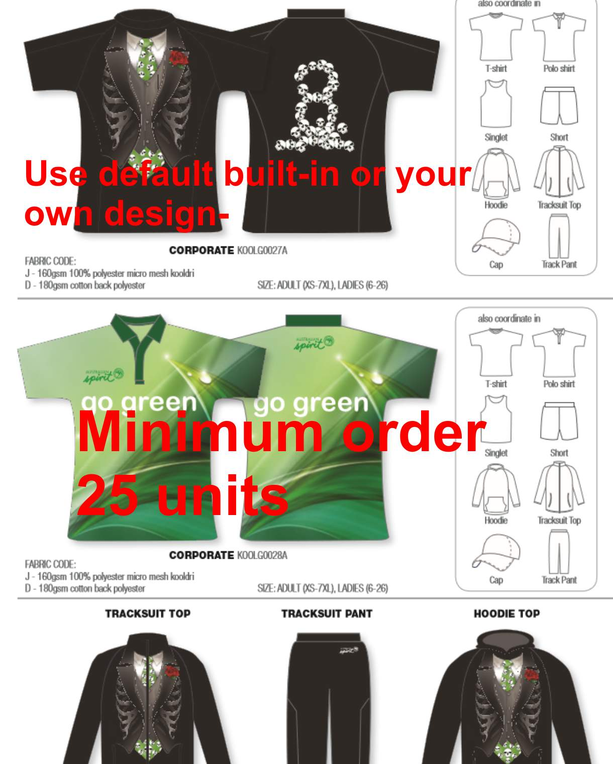 Design your own t-shirt and save it - Events Style 1 Design Your Own Color Minimum 25 Units