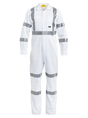 Bisley BC6806T-3M Taped White Drill Coverall