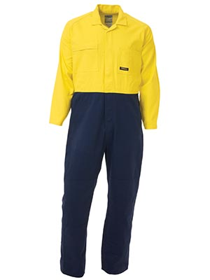 Bisley BC6357-2 Tone Hi Vis Coveralls Regular Weight